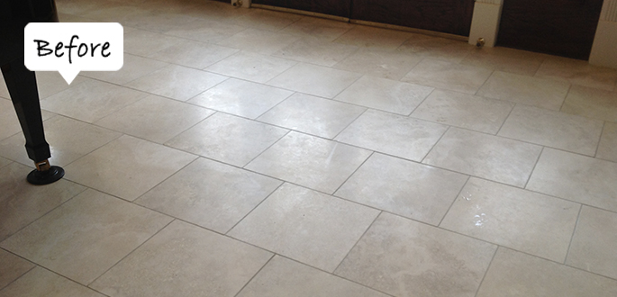Sir Grout Hartford Travertine Before Honing and Polishing